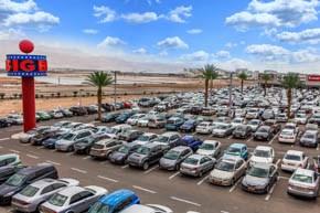 Bientôt, un centre d'achats BIG en ligne. Evidemment, de chez eux les clients rateront la vue extraordinaire sur le désert comme ici à Eilat (photo : presse)