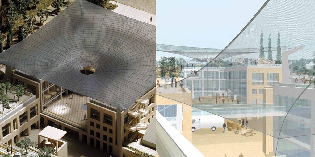 La patte du célèbre architecte Moshe Safdie à Jérusalem (photo : capture d'écran IAA)