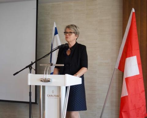 La conseillère nationale Corina Eichenberger a averti entre autres du lancement d'une campagne de délégitimation d'Israël en 2017 (photo : Samuel Suter).