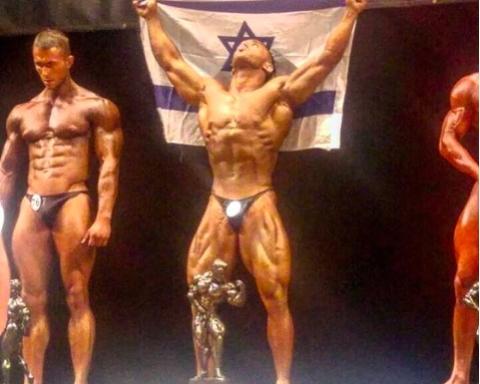 Le premier Mr. Univers israélien savoure sa victoire (photo : Instagram Kobi Ifrach)