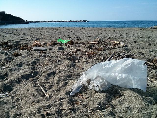 Une grande quantité des sacs plastiques finissent jetés à la mer – une terrible pollution (photo : Sebastian Kauer/Flickr).