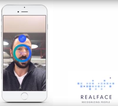 RealFace permet la connexion par reconnaissance faciale (photo : capture d'écran de la vidéo de démonstration de la firme)
