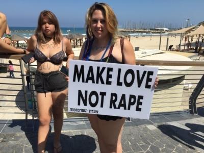 L'amour, pas le viol. Les femmes luttent pour leur droit à n'être ni violées, ni harcelées (photo : Twitter