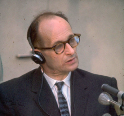 Adolf Eichmann lors de son procès en 1961. (photo: Israel National Photo Collection)