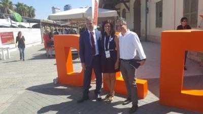 De gauche à droite : S.E. l'ambassadeur de Suisse Jean-Daniel Ruch,  Sabrina Cohen Dumani, Présidente de Nomads Foundation, Yariv Nornberg, membre du GIS et Managing Director Julius Baer Representative Office en Israël, sponseur du petit-déjeuner (photo : m.à.d)