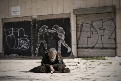 Il est certain que ce sans-abri à Tel-Aviv répond à la définition actuelle de l'office d'aide (photo : Pixabay)