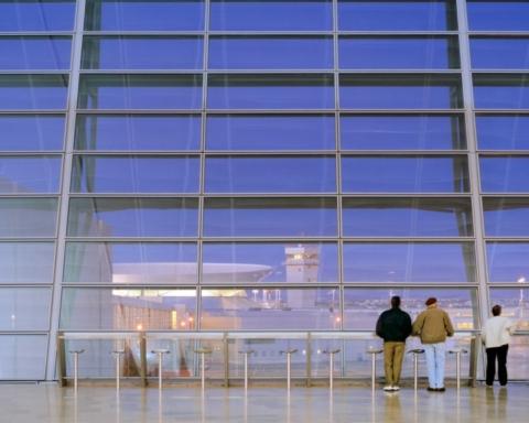 Le terminal 3 est le plus grand terminal de l'aéroport Ben Gourion (photo : Safdie Architects)