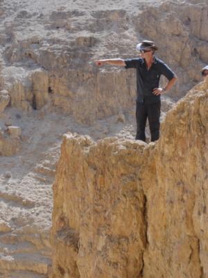 Le professeur Vieweger sur un site de fouilles en Israël (photo : privée)