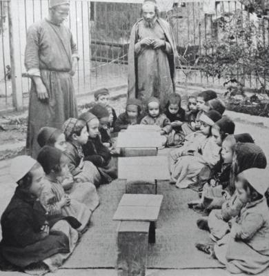 Enfants étudiant la Torah à Jérusalem. La photo date de 1925 (photo: Jewish National Fund photo archive/Wikimedia Commons)