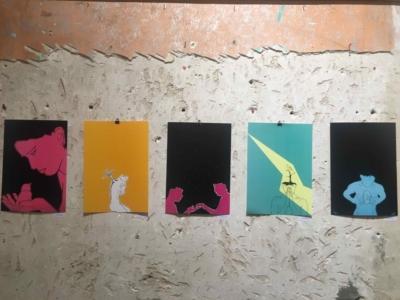 De nombreuses œuvres, telle celle représentée ici de Shaked Dudovich, traitaient des phases de changement (photo : Zo Flamenbaum).