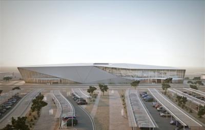 Terminal de l'aéroport Ramon à Eilat (photo : site Internet www.ramon-airport.com).
