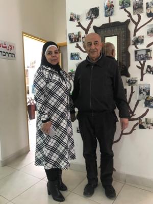 Sahar Elesawi et Farid Abu Gosh du programme TRUST s'engagent en faveur de la population arabe en Israël (photo : KHC).