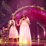 Les chanteuses sont aveugles, le joueur de bongo est trisomique et la musique va droit au cœur. L'orchestre Shalva fut l'un des points forts de l'Eurovision (photo : capture d'écran Youtube)