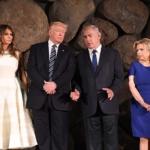 Les Netanyahu avec les Trump à Yad Vashem en 2017 (photo : ambassade américaine, Tel-Aviv)