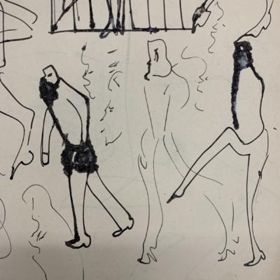 Un dessin de Kafka de la collection (Photo : Bibliothèque nationale d'Israël)