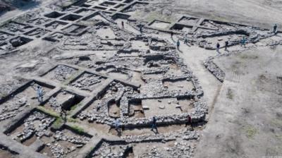 Site des fouilles d'En Esur (photo : Assaf Peretz/IAA).