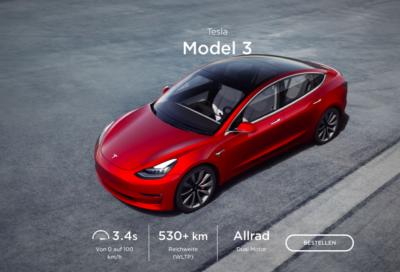 Le modèle 3 de Tesla sera vendu prochainement en Israël (photo : Tesla.com).