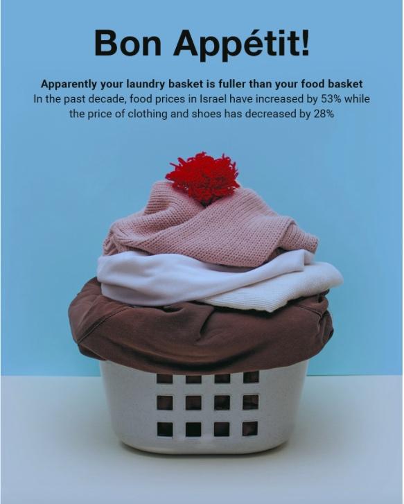 Le panier à linge plus plein que le réfrigérateur ? Tandis que ces dix dernières années le prix des vêtements et des chaussures a diminué de 28 pour cent, celui des denrées alimentaires a augmenté de 53 pour cent (photo : rapport Taub)