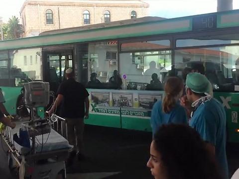 Il n'est pas courant de voir un bus s'arrêter devant les urgences de l'hôpital Rambam à Haïfa (photo : hôpital Rambam)