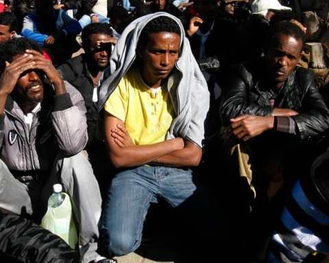 Réfugiés africains à Tel-Aviv (photo : Rudychaimg/Wikimedia Commons).