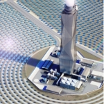 La future tour solaire dans le sud d'Israël (photo : GE Renewable Energy)