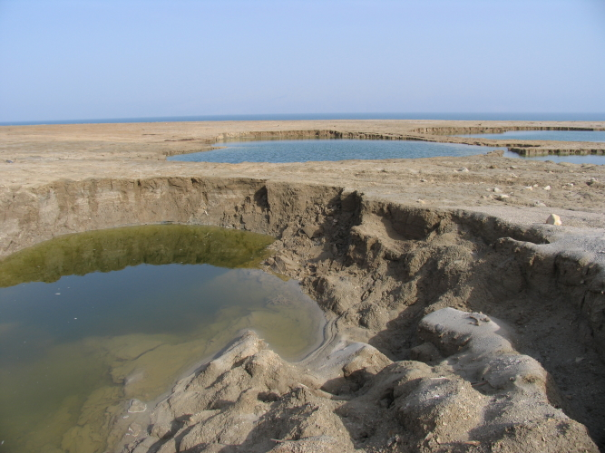 mer Morte (photo : Doron/Wikimedia Commons).