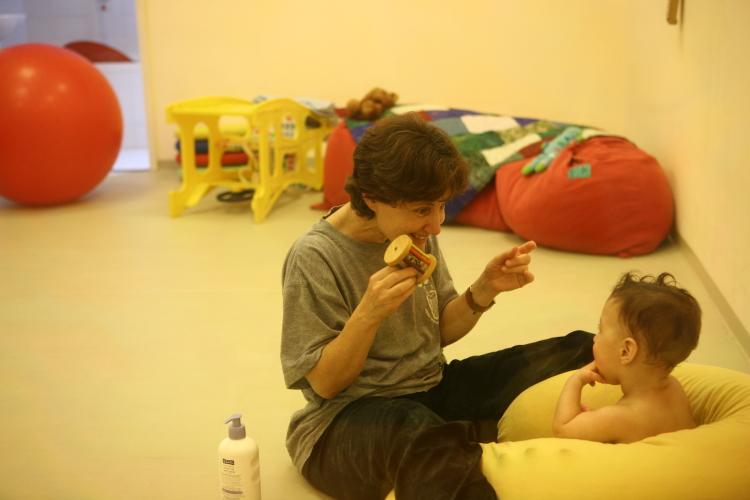 Une thérapeute au centre Mifne (Photo : presse)