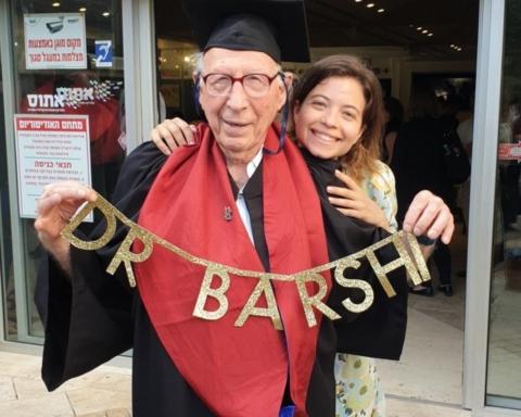 Dr Gabriel Barshi – le doctorant le plus âgé d'Israël avec sa petite-fille Ela Barshi (photo: privée)