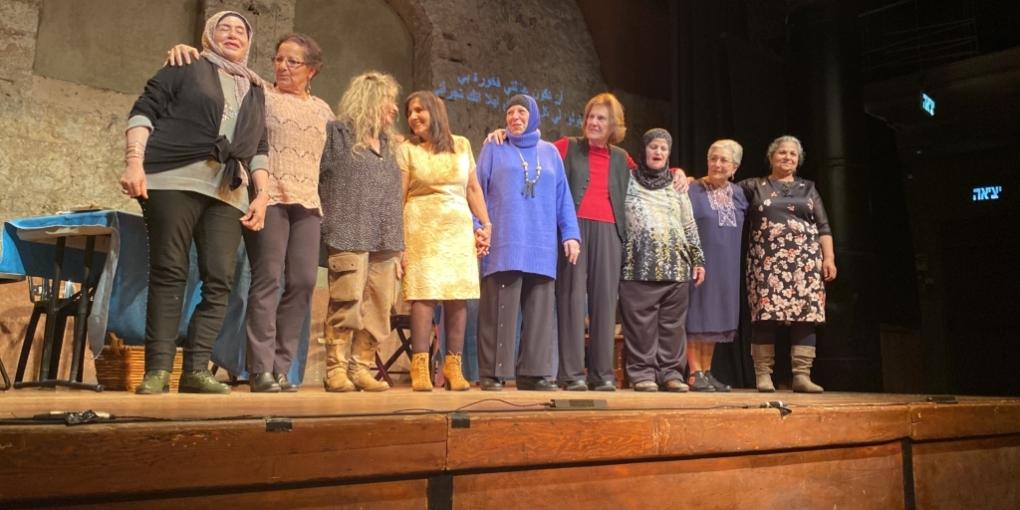 Neuf femmes juives et arabes sont les personnages de la nouvelle pièce d'Adina Tal (photo : KHC)