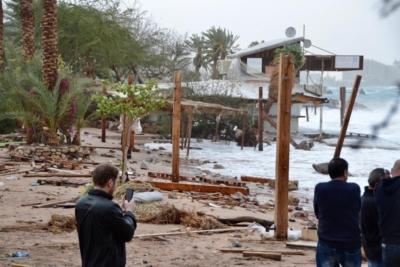 Les tempêtes ont causé des dommages sévères à Eilat, également aux récifs coralliens (photo : Heike Adler)