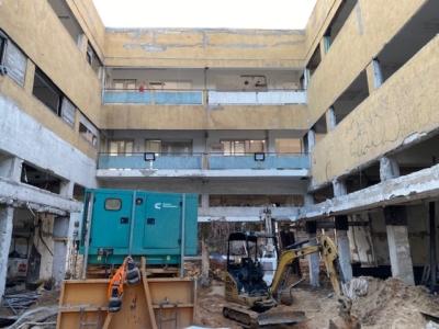 Un chantier à Tel-Aviv (photo : KHC)
