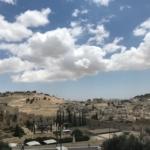 Vue sur le Mont des Oliviers. Il ne reste plus beaucoup d'espaces aussi peu construits à Jérusalem (photo : KHC)