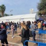 Files d'attente devant le centre de test de Tel-Aviv (photo: Na'hum Ciobotaru).